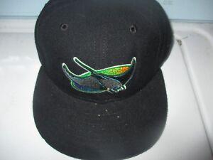 New 90 s TAMPA BAY DEVIL RAYS Ray Logo Hat 6 3 4 6 7 8 New Era 5950 ... 0f1526e70e25