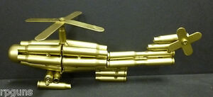 New-Model-HELICOPTER-made-from-Bullet-Casings-Unique-Rare-Large-Military-War