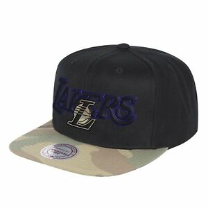 new concept 9cd08 c9bc9 Image is loading Mitchell-amp-Ness-Los-Angeles-Lakers-Woodland-Covert-