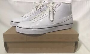 Details about NIKE HIGH TOP BLAZER WHITE SNEAKERS SHOES MENS SIZE 13