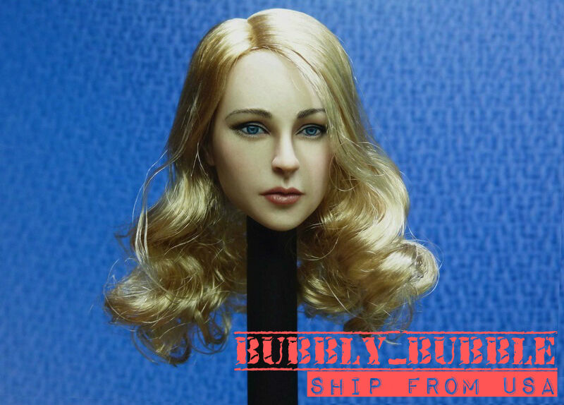 1 6 Female Head Sculpt Blonde Hair For 12  PHICEN Hot Toys Figure SHIP FROM USA