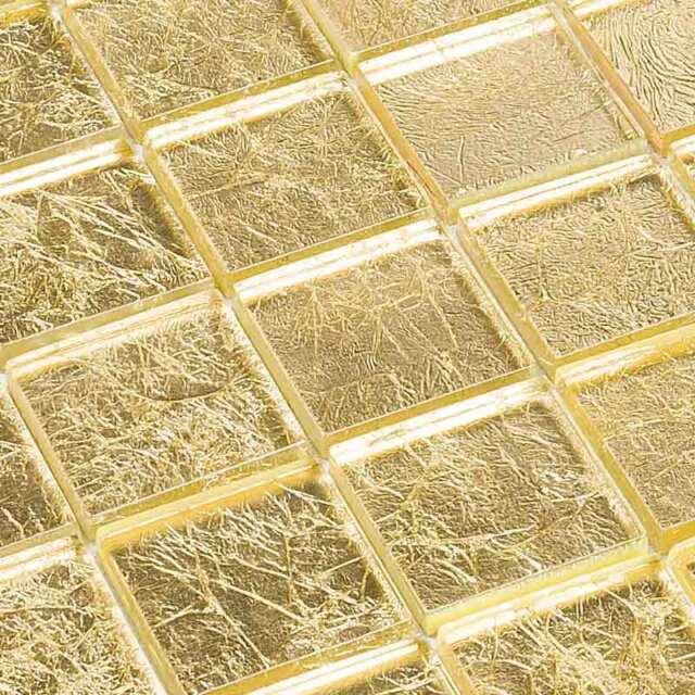 Glasmosaik Fliesen Mosaik Effektglas Gold Ebay