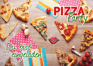einladungskarten einladungen kindergeburtstag pizza party geburtstag pizza essen ebay. Black Bedroom Furniture Sets. Home Design Ideas
