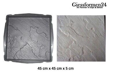 4x Gießform Schalungsform 30x30cm Garten Beton Form Terrassenplatte Gehwegplatte