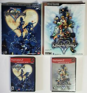 Disney-Kingdom-Hearts-Bundle-with-1-amp-2-2-is-New-Sealed-and-Strategy-Guides