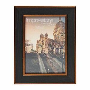 Widdop-5-039-x-7-039-Impressions-Black-amp-Bronze-Wood-Finish-Photo-Frame