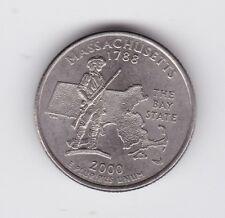 1788-2000 D USA United States America Quarter Massachusetts Dollar COIN E-552
