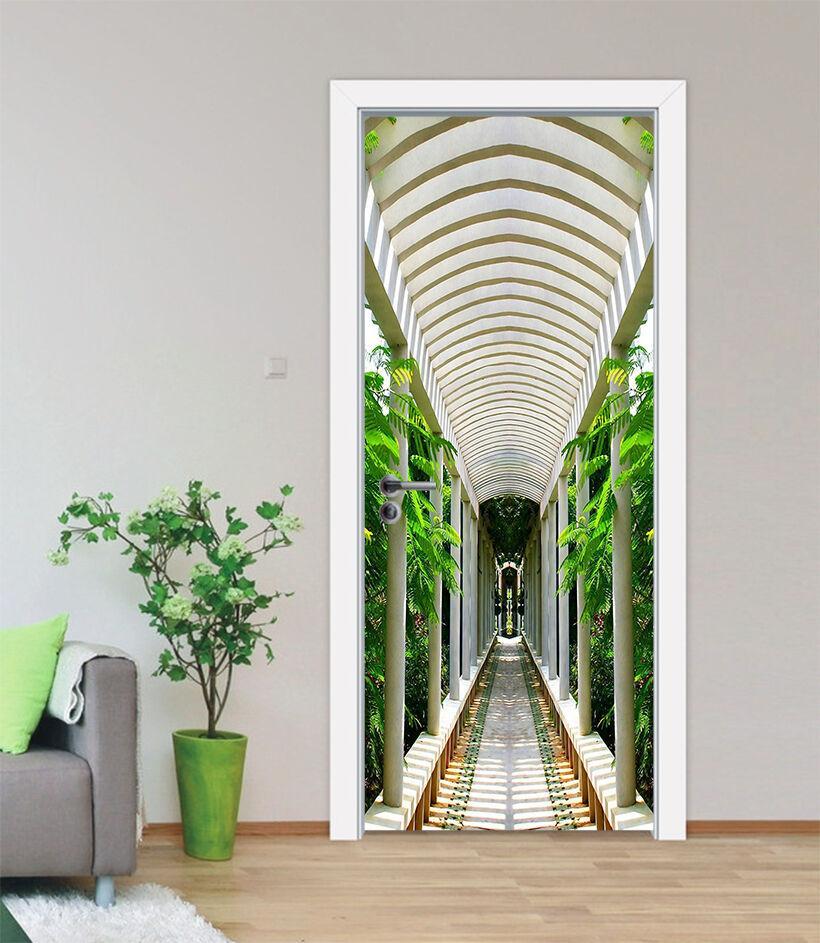 3D Pavillon 5 Tür Mauer Wandgemälde Foto Wandaufkleber AJ WALL DE Lemon