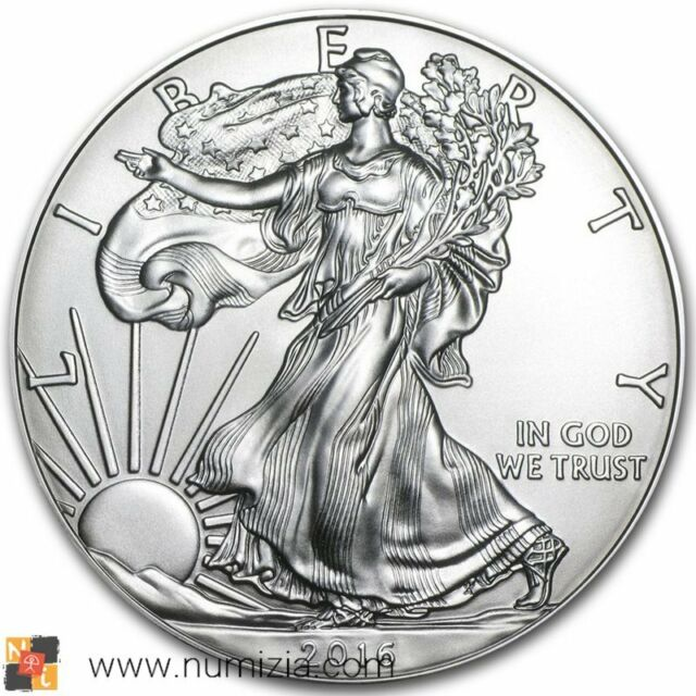 ESTADOS UNIDOS 1 Dollar 2016 Liberty Silver Eagle 1 Onza de plata (S/C) USA