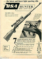 1954 Print Ad of BSA Hunter Short Action Rifle