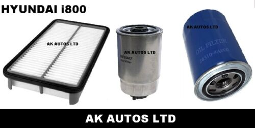FOR HYUNDAI i800 iLOAD 2.5 CRDi 08/> SERVICE PARTS OIL AIR /& DIESEL FUEL FILTER