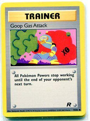 POKEMON RARE 1st EDITION TRAINER GOOP GAS ATTACK VGC UNPLAYED 78//82