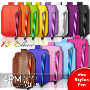 PU-Leather-Pull-Tab-Pouch-Case-Cover-amp-Stylus-Pen-For-Various-Sony-Xperia-Phones