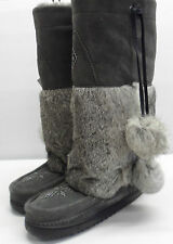 Manitobah Mukluks Tall Classic Winter Boots UK Size 8 Ladies Grey New RRP £319