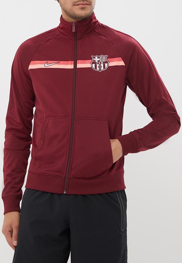 Nike FC Barcelona 2018-2019 Herren Fußball Jacke Tief Maroon   Metallisch Silber