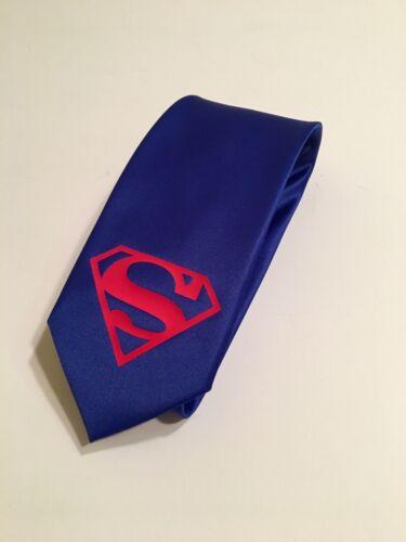 Royal Blue Tie Superman Necktie New