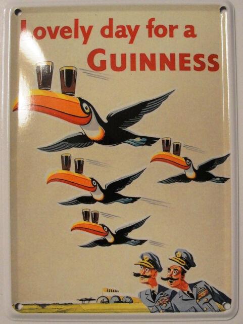 Guinness Four Flying Toucans Mini Tin Sign