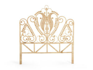Image Is Loading Pea Rattan Headboard Twin Size Natural Color