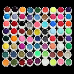 72-Pots-Mix-Color-Solid-Pure-UV-Builder-Gel-Acrylic-Set-For-Nail-Art-Tips-QP