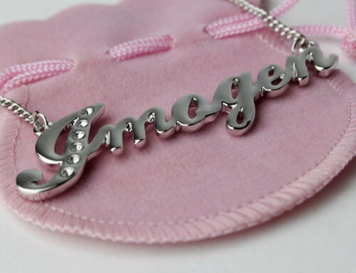 Imogen Name Necklace and Bracelet Gift Set Gold Plated Christmas Gifts