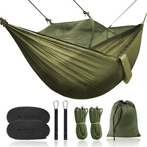 Portable Tent Camping Hammocks Mosquito Net Rain Cover Outdoor Windproof Bed US