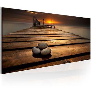 wandbilder xxl meer landschaft mole stein leinwand bild. Black Bedroom Furniture Sets. Home Design Ideas