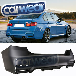 Details About Bmw F30 12 F80 M3 Look 3 Series Rear Bumper Bar Oo Oo Twin Outlet