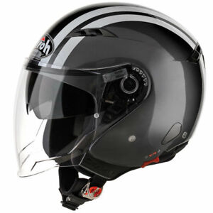 Airoh Ville One Jet Fluo Anthracite Ouvert Casque Moto Ebay