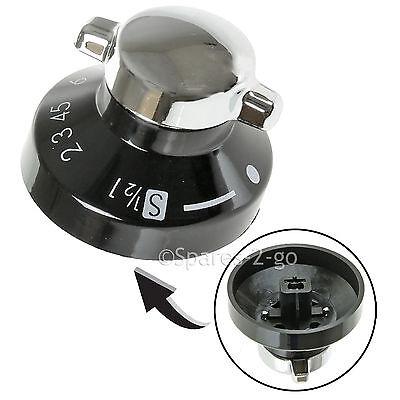 Chrome Genuine AEG Oven Control Knob Switch Silver