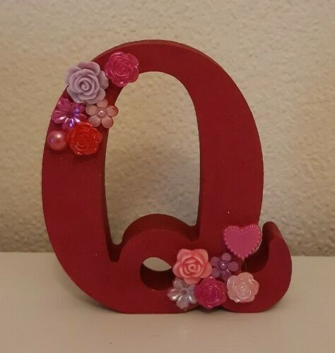 Clearance capital freestanding initials Reduced 10cm ❤ SALE MDF wooden letters