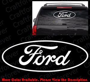 Large Ford Logo Die Cut Car Window Laptop Die Cut Vinyl