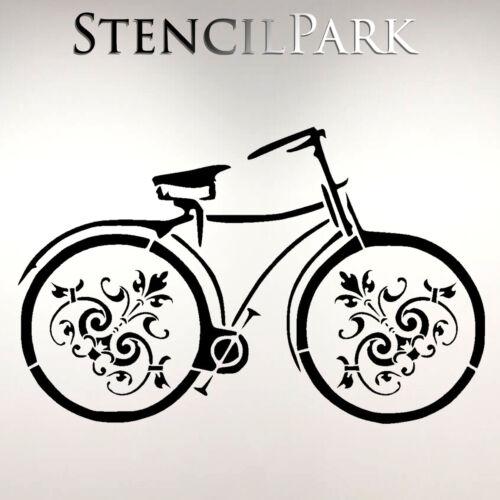 Retro Bike Decoration Decor Kids Bedroom Reusable Craft Stencil A5 A4 A3 066