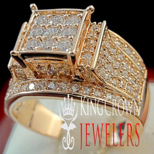 14K ROSE GOLD FINISH REAL LAB DIAMOND LADIES WOMENS ENGAGEMENT WEDDING RING BAND