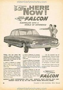 1960 FORD FALCON XK SEDAN A3 POSTER AD SALES BROCHURE ADVERTISEMENT ADVERT