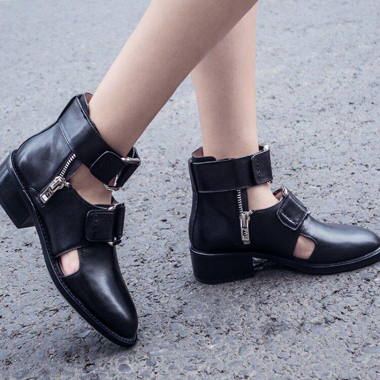 a buon mercato donna Roman Block Med Med Med Heels High Top Oxfords Chunky scarpe Solid Punk avvioies  tutti i prodotti ottengono fino al 34% di sconto