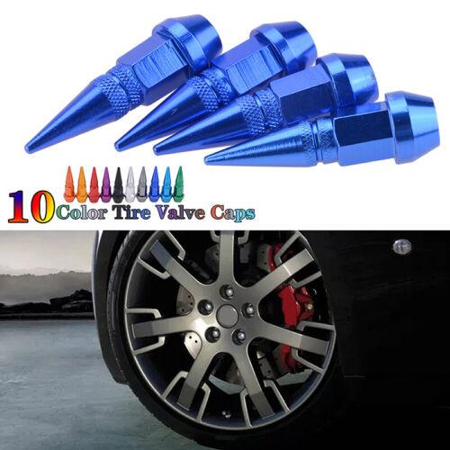 4x Car Bike Motor Wheel Tire Tyre Air Valve Caps Stem Cover Accessories BLUE