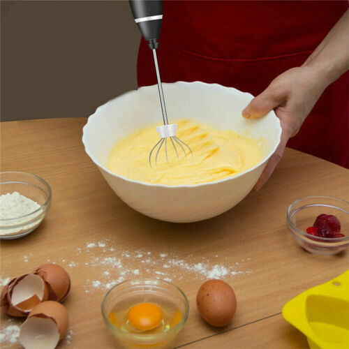 Frother Milk Mixer Rechargeable 3 Speed Drink Foamer Egg Beater Whisk Stirrer