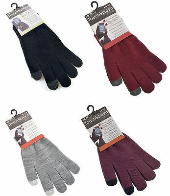 Mens Ladies Touch Screen Thermal Winter Gloves For Phones Tablets iPhone iPad