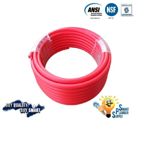 """3//4/"""" X 100 ft RED PEX TUBING FOR WATER SUPPLY WITH 25 YEARS WARRANTY"""
