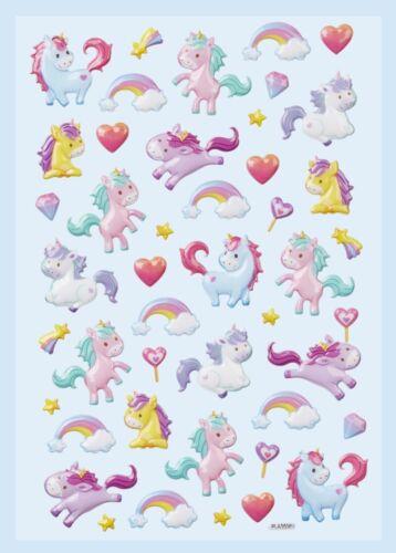 Softy Sticker Fantasie Aufkleber Einhorn Meerjungfrau Lama Tiere Hobbyfun