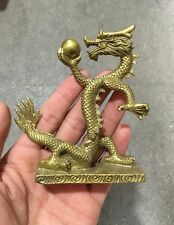 RARE Collectibles Decorated Handwork Bronze Carving Dragon Wonderful Statue