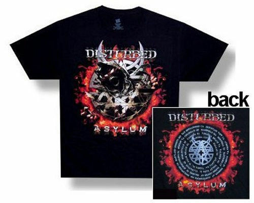 Disturbed Eclipse 2010 2011 Tour Asylum Black T Shirt New Official Band Metal