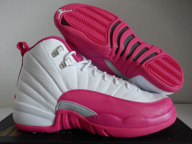 new product 74c1a 42bdd ... spain nike air jordan 12 retro white vivid pink silver sz 9y mens sz  a1215 62250
