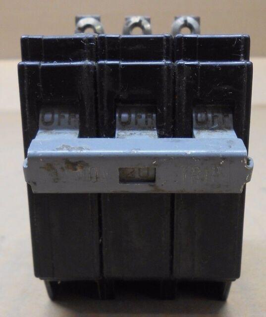 WARRANTY 20 AMP 3 POLE Circuit Breaker Cutler Hammer CHB320