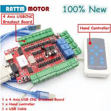 4 Axis Usbcnc Nema23 Stepper Motor Breakout Board Usb Controller With Hand Control