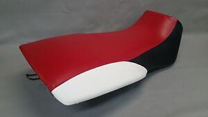 Polaris-XPLORER-300-Seat-Cover-1996-1999-3-TONE-RED-BLACK-WHITE-or-25-COLORS