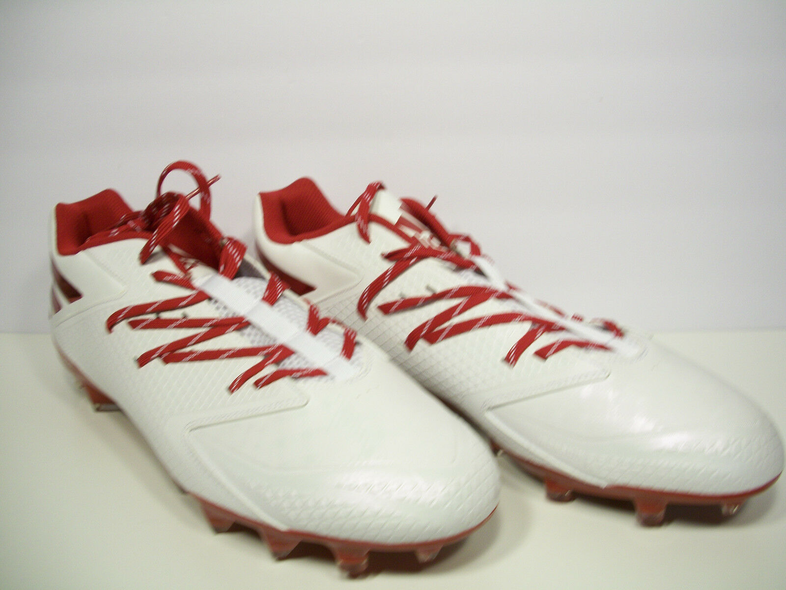 ADIDAS Freak X Carbon Low Football Cleats QUICKFRAME D70 White/Red Size 13