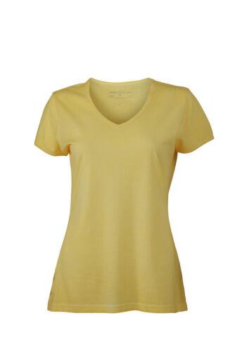 James /& Nicholson Damen V-Neck Kurzarm V-Ausschnitt T-Shirt S XXL