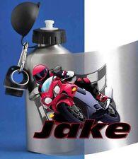 PERSONALISED BOYS  DRINKING / WATER BOTTLE / MOTOR BIKE