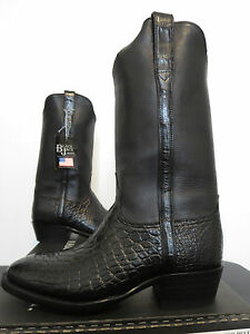 59c0ccae3cc Details about Black Jack Boots Alligator Belly & Venus Calf Mens Cowboy  Boot 524, New In Box!